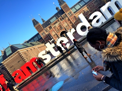 I am Amsterdam sign outside Rijksmuseum