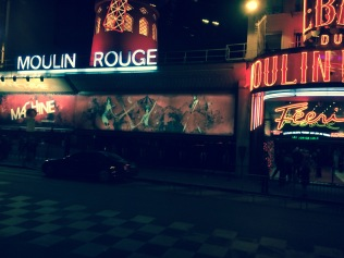Moulin Rouge at night, Paris