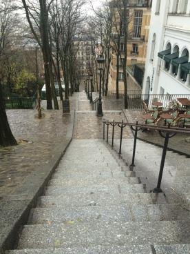Steps leading to Sacre Coeur