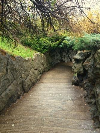 Steps up to Sacre Coeur