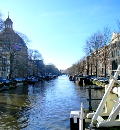 Looking down a Canal, Amsterdam