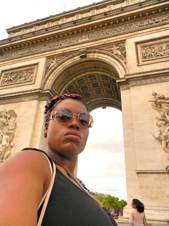 Me at the Arc De Triomphe, Paris