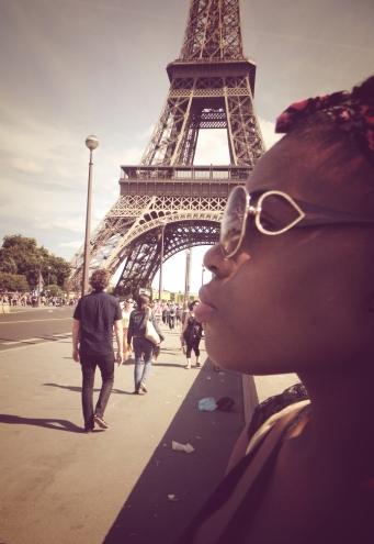 Me at the Eiffel Tower, Paris