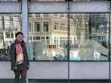 Me outside Anne Frank House