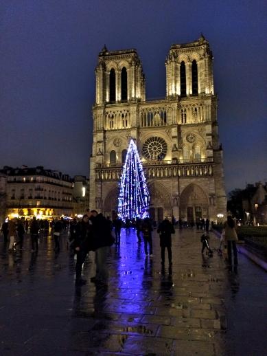 Notre Dame at Night, Paris