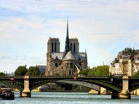 Notre Dame from the River Seine, Paris