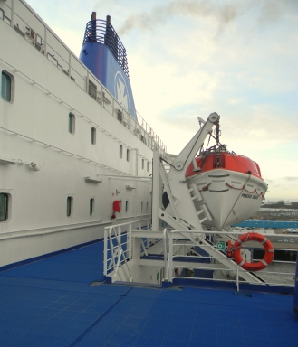 On the DFDS Seaway Ferry