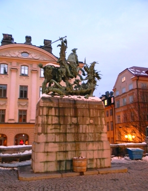 Saint George and the Dragon statue, Stockholm