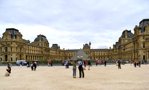 The Old Grand Palace and Louvre Museum, Paris