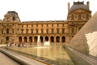 The Old Grand Palace and Louvre Pyramid