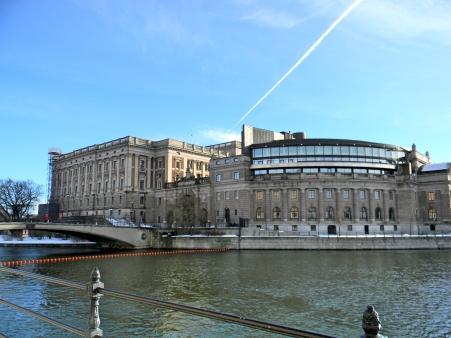 The Riksdag building Stockholm