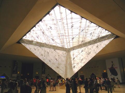 Underside of Louvre Pyramid, Paris