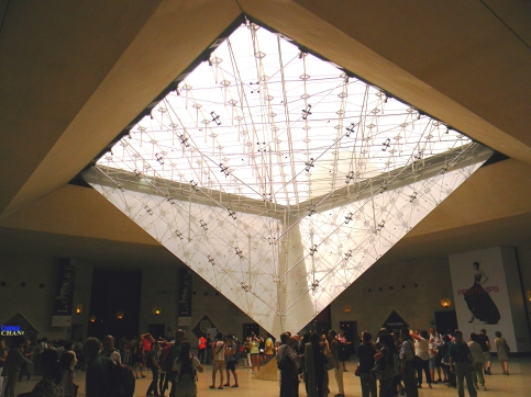 Underside of Louvre Pyramid, Paris