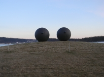 Eyes by Louise Bourgeois in the Astrup Fearnley garden, Oslo
