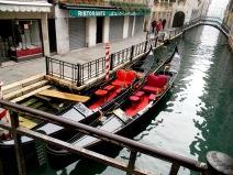 Gondolas on a Canal, Venice