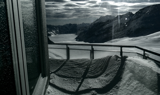 Looking out onto Jungfrau, Switzerland