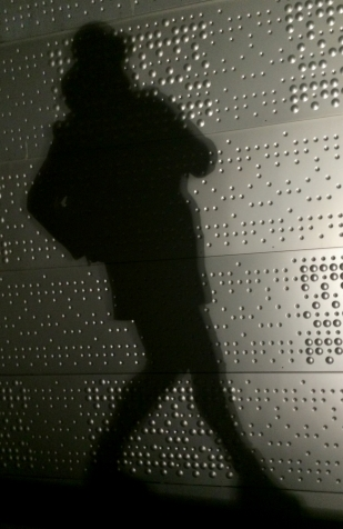 My shadow on Oslo Opera and Ballet House