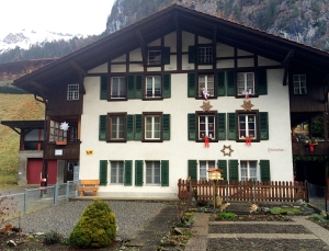 Swiss house, Lauterbrunnen, Switzerland