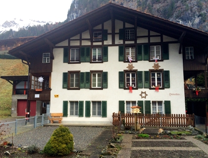 Swiss house, Lauterbrunnen, Switzerland