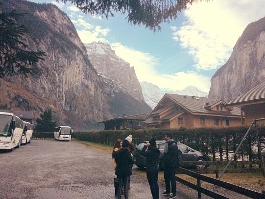 The surrounding of Schutzenbach Camping & Backpackers, Lauterbrunnen Switzerland