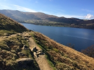 View from a mountain walking to Howtown, Lake District
