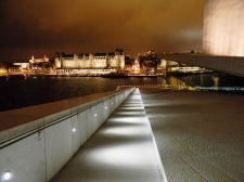 View from Oslo Opera and Ballet House at Night