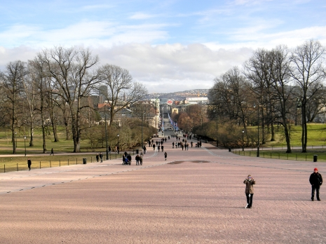 View from The Royal Palace/ Kongehuset, Oslo