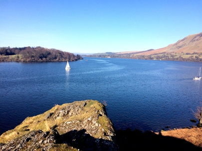 View walking to Howtown, Lake District