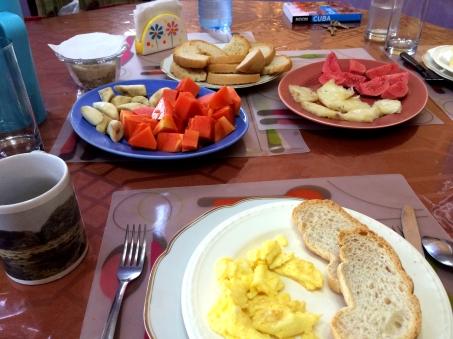 Casa Ada Colonial breakfast, Havana, Cuba