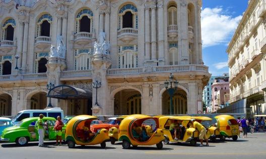 Coco taxi park Havana Vieja, Cuba
