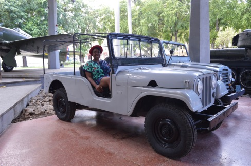 Me in a Jeep at Museo de la Revolucion, Havana, Cuba