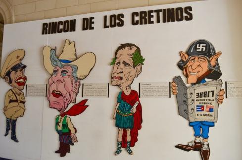 Wall of cretins Museo de la Revolucion, Havana, Cuba