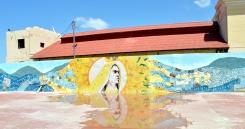 Mural of Virgen de Regla at Malecon, Santiago de Cuba, Cuba