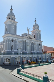 View of Catedral de Nuestra Senora de la Asuncio from Hotel Casa Granda, Santiago de Cuba, Cuba