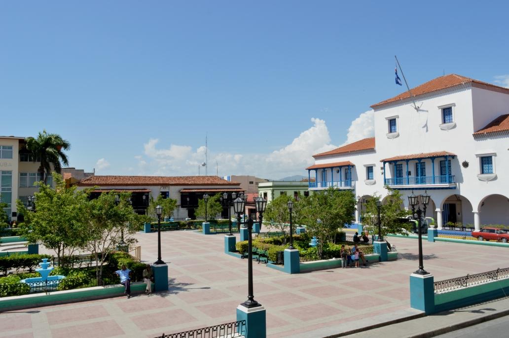 View of Parque Cespedes from Hotel Casa Granda, Santiago de Cuba, Cuba.jpg