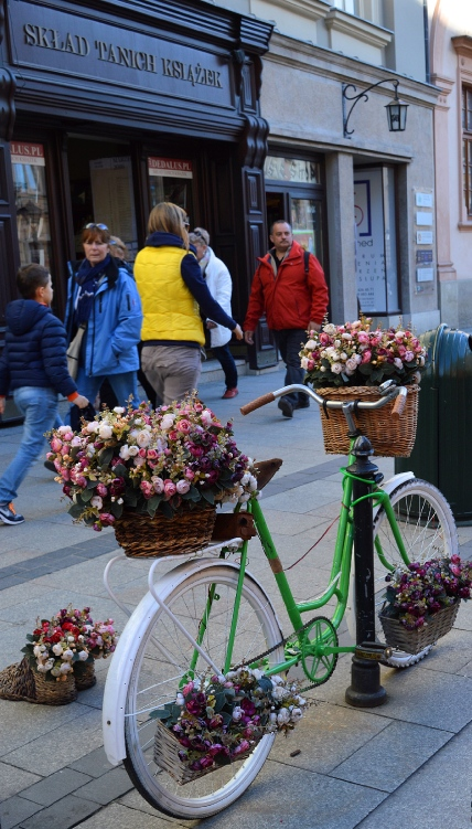 Bicycle of Flowers, Krakow, Poland