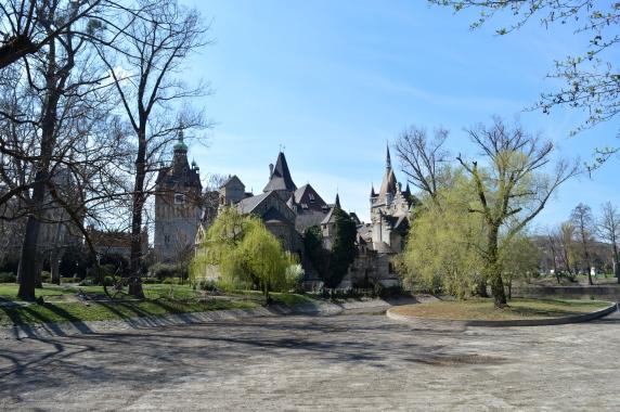 Castle Vajdahunyad in the City Park, Budapest, Hungary