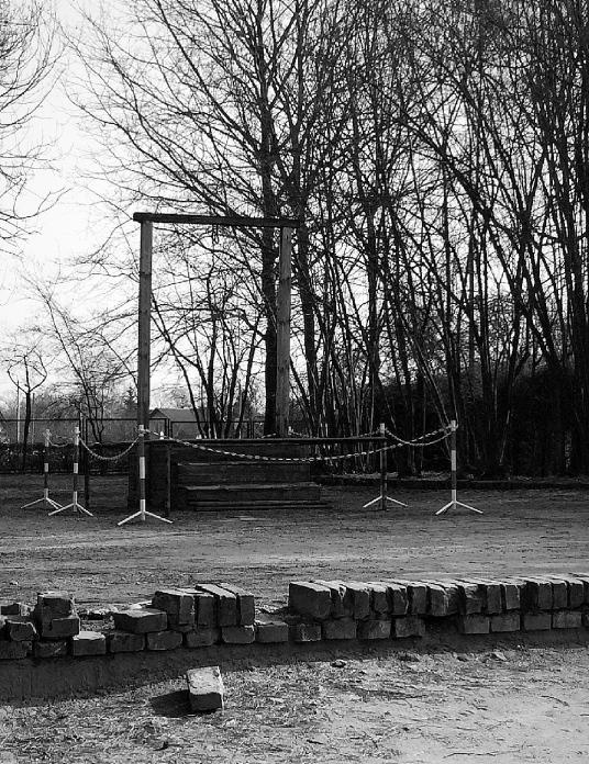 Death place or Rudolf Hoss, Auschwitz, Poland