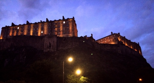 Edinburgh Castle at night, Scotland