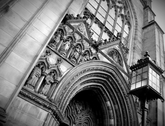 Entrance of St Giles Cathedral, Edinburgh, Scotland