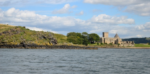 Inchcolm Abbey on Inchcolm Island, Scotland