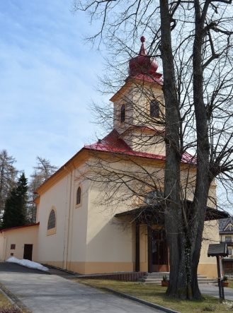 Little Church with a red roof, Donovaly, Slovakia