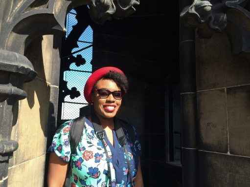 Me on The Scott Monument, Edinburgh, Scotland