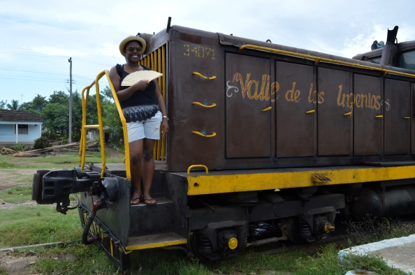 Me on the Valle de los Ingenios Train, Trinidad, Cuba