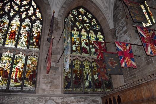 Stainglass windows of St Giles Cathedral, Edinburg, Scotland