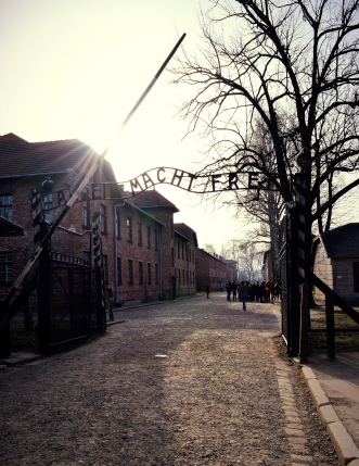 The Entrance to Auschwitz, Poland