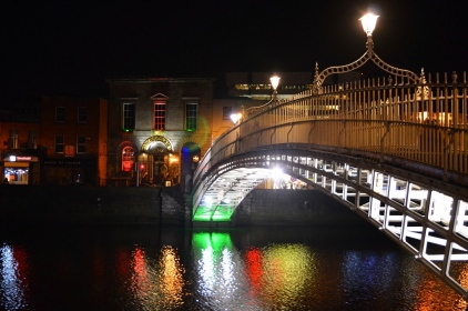 The Ha'Penny Bridge, Dublin, Ireland