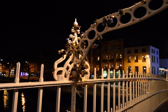 The Padlocks of Ha'Penny Bridge, Dublin, Ireland