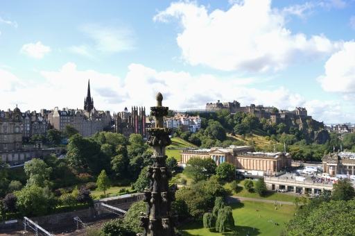 View from The Scott Monument, Edinburgh, Scotland