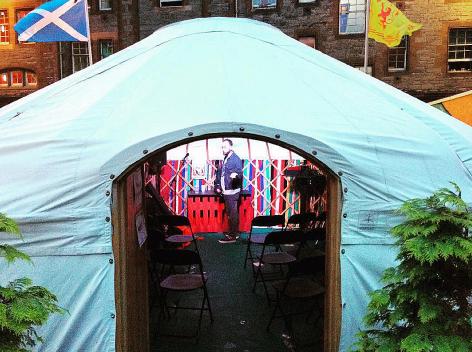 A Yurt, Fringe Festival Venue 2015, Edinburgh, Scotland